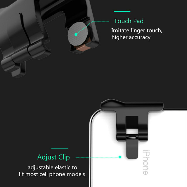 2Pcs Trigger for Pubg Mobil Joystick Celular for your Phone Android l1 r1 Joistick for Mobile for Rules of Survival Critical Ops