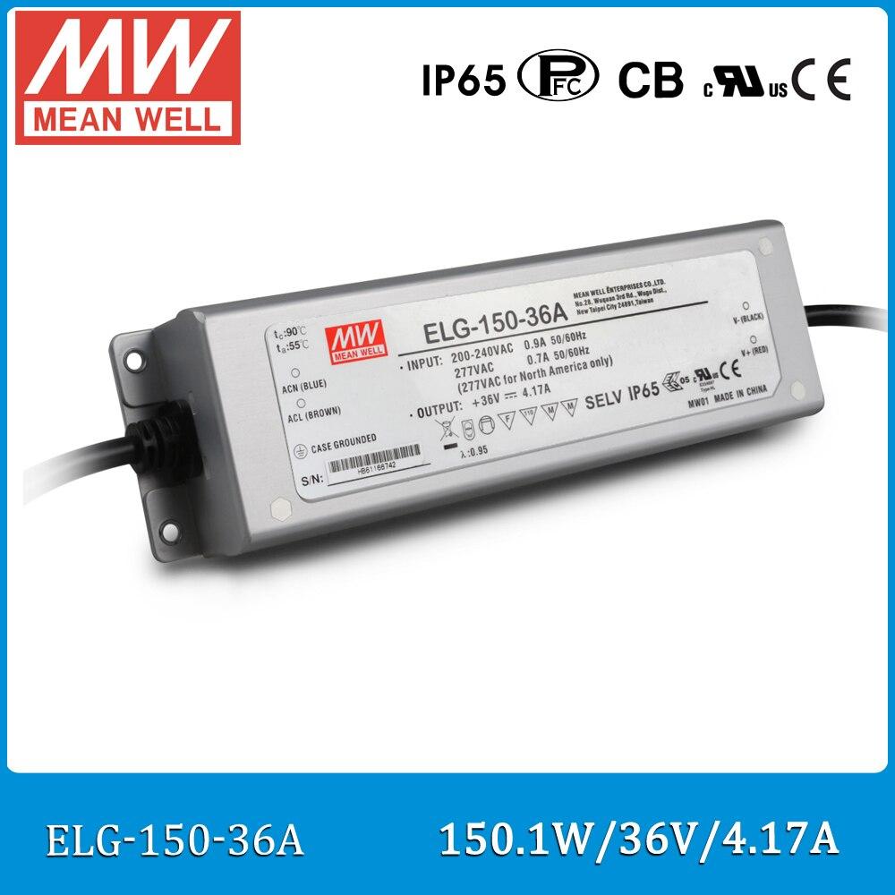 Driver LED mean well d'origine ELG-150-36A 150 W 36 V 4.17A IP65 étanche alimentation réglable ELG-150 A type