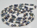 60 inch multicolor freshwater pearl necklace free shipping