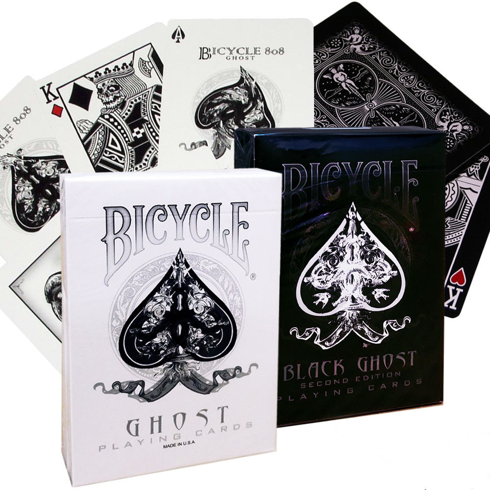 Classic Toys Sunny 1 Deck White Black Ghost Deck Bicycle Playing Cards Poker Size Uspcc Custom New Ellusionist Magic Tricks Magic Props Magic Tricks