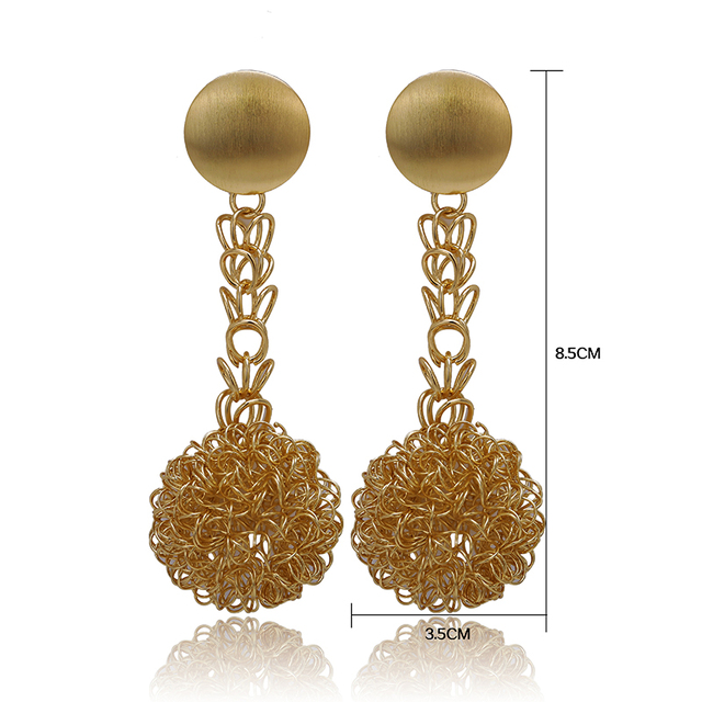 Gold-Color Earrings 2