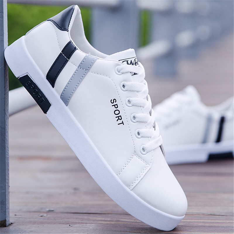 2019 Spring Autumn NEW Men Casual Shoes Oxfords Leathers Shoes Men Fashion Sneakers Breathable Lace Up Mixed Colors Size 39 44 in Oxfords from Shoes