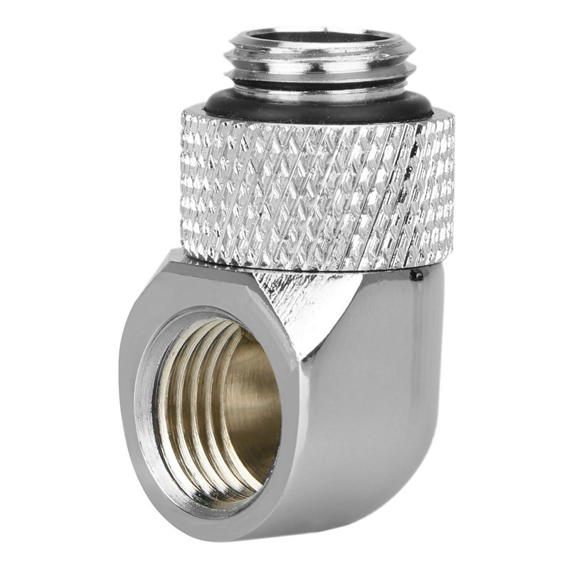 12.9Mm G1/4 Thread 90 Degree Rotary Tube Connector Fitting For Pc Water Cooling