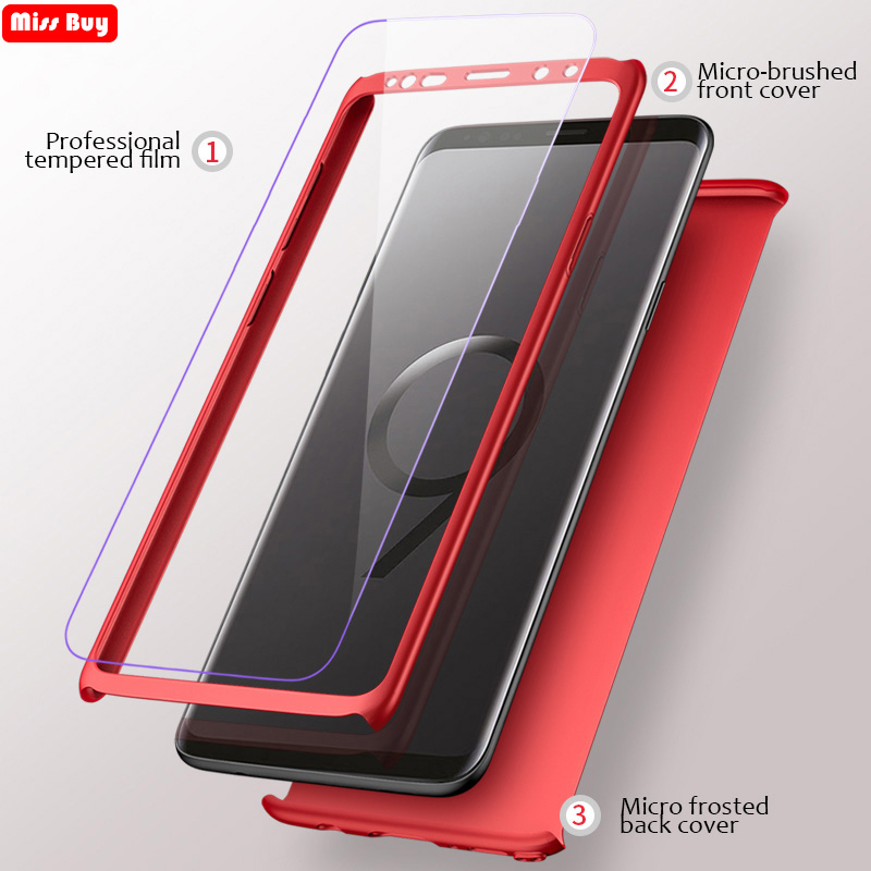 For Samsung Galaxy A5 2017 Case 360 Degree Full Cover For Samsung Galaxy A520 A520F Phone Case Slim Hard PC Cover Tempered Glass image