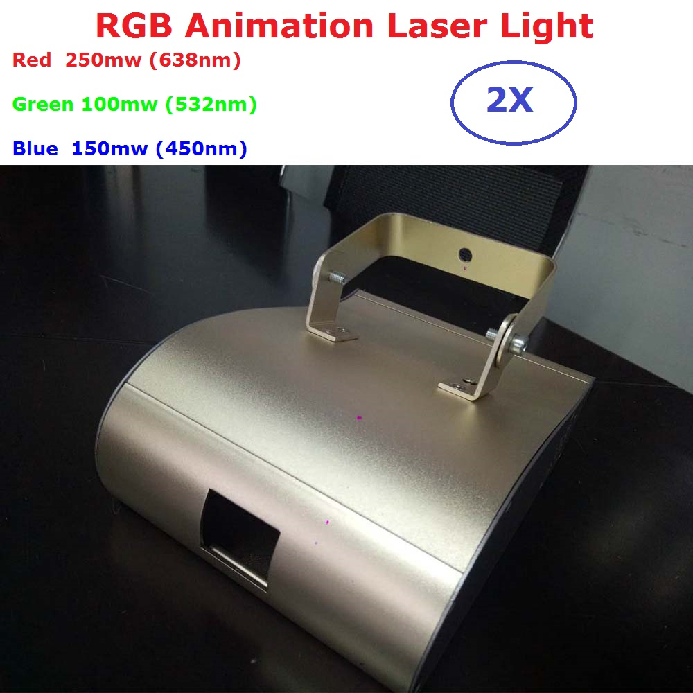 2Pcs/Lot Newest 500MW RGB 3IN1 Laser Lights DMX Animation Projector Stage Lighting Professional DJ Party Show Scanner Lights