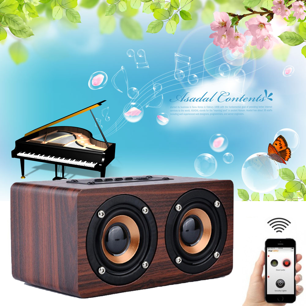 new retro wood 10w wireless bluetooth speaker portable speaker bluetooth altavoz mini 3d dual. Black Bedroom Furniture Sets. Home Design Ideas
