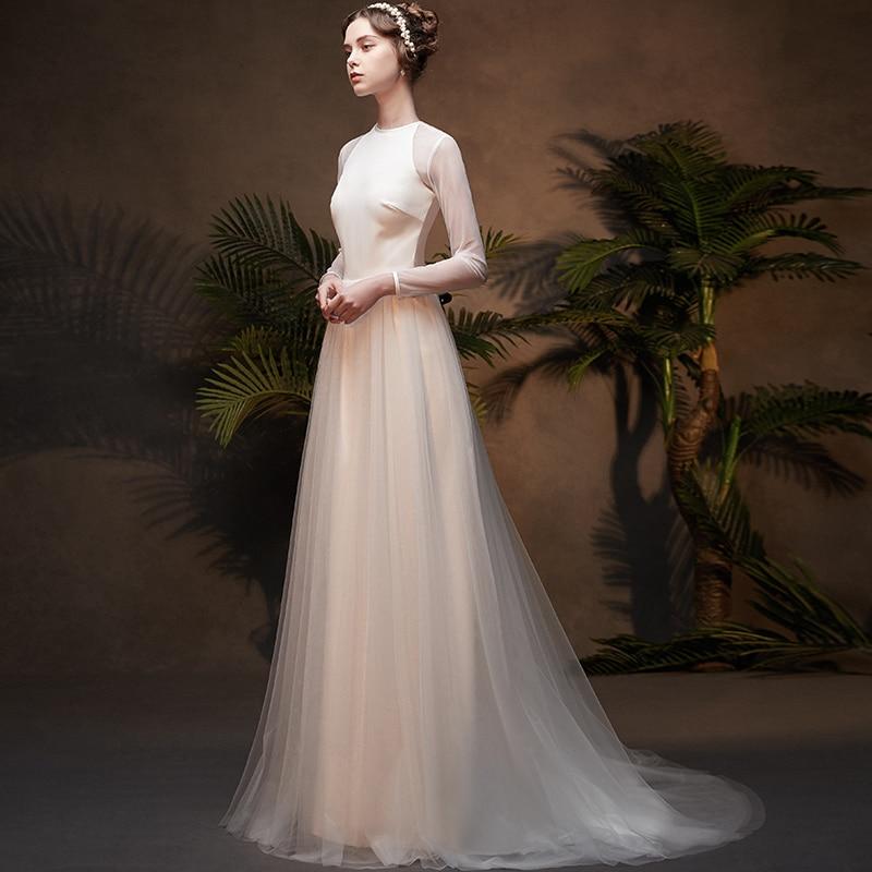 Vintage Wedding Dresses 2019 Royal Floor Length French