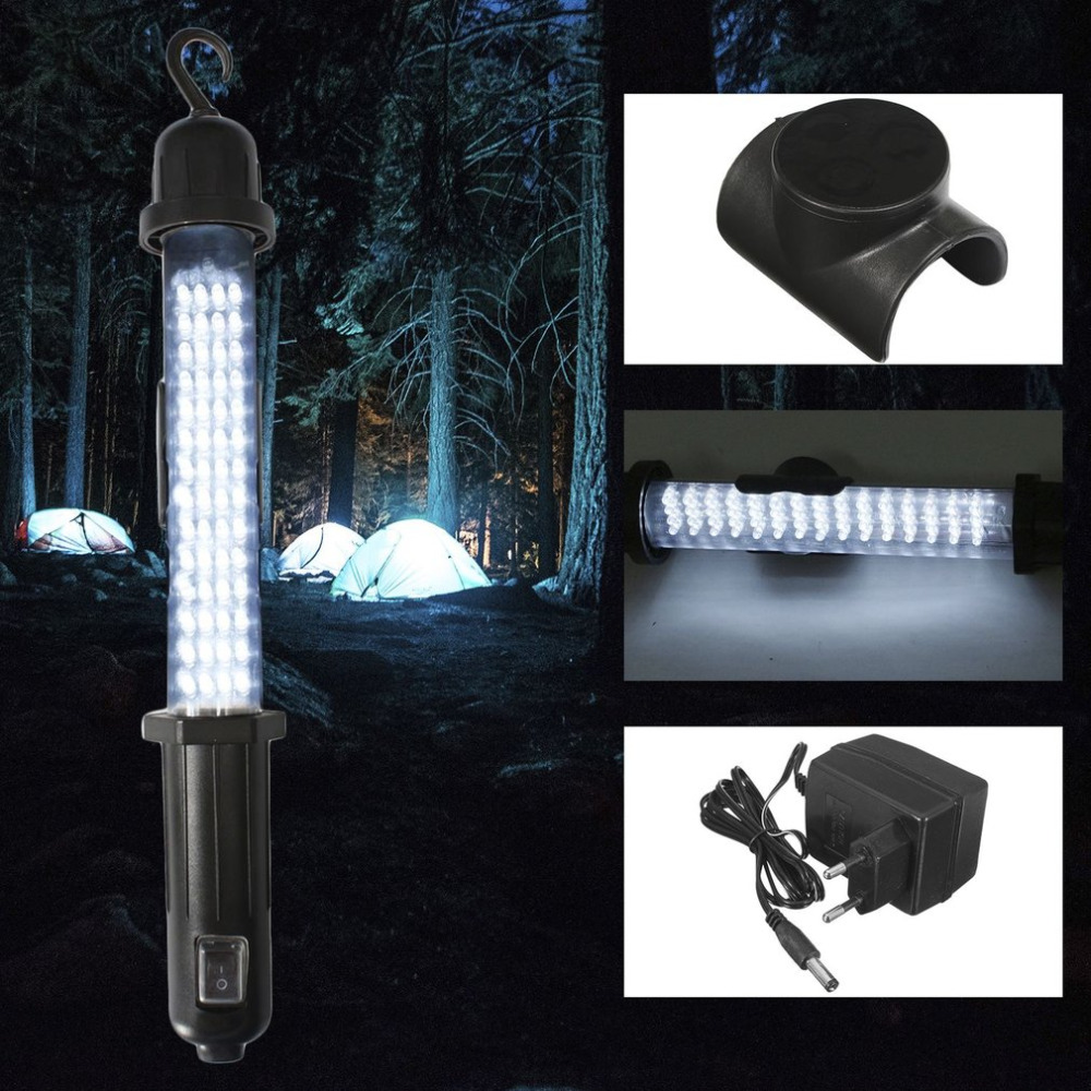 Stalwart Large 60 Led Rechargeable Work Light: 60 LED Camping Lantern Light EU Plug Lamp Torch