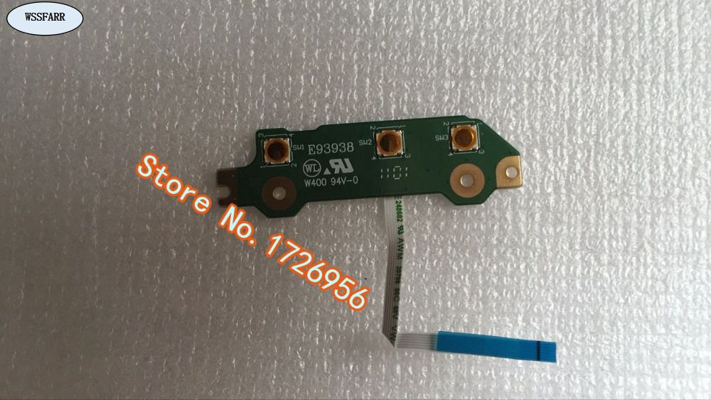 Original FOR Toshiba R850 Power Button Board With Cable WORKS