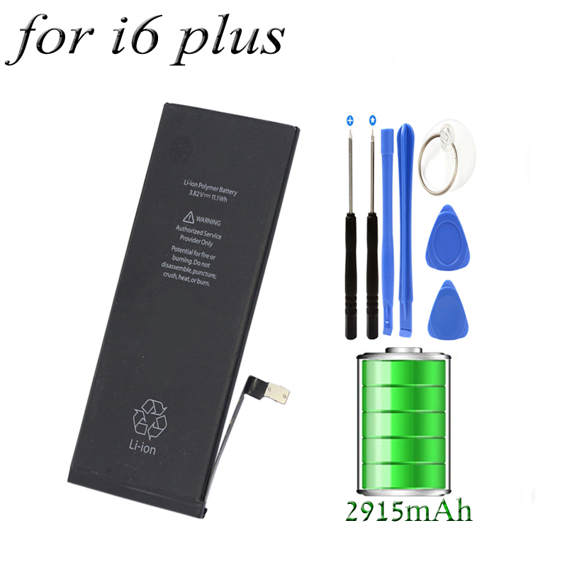 2915MAh 3.82V Lithium polymer Battery Mobile Phone Battery for 5.5 inch Apple Iphone 6 plus battery Replacement