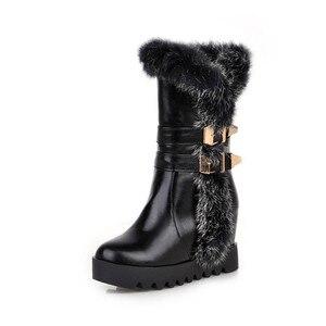 Image 4 - MORAZORA Botas de media caña para mujer, botas de nieve de poliuretano para invierno de alta calidad, zapatos de plataforma cálidos, 34 43 talla grande, 2020