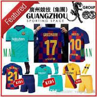 online store f5b47 7c099 GRIEZMANN kids Soccer Jersey Barcelona Camisetas de Fútbol 19 20 Barca  Messi DE JONG Rakitic MEN 2019 Football Coutinho Jersey
