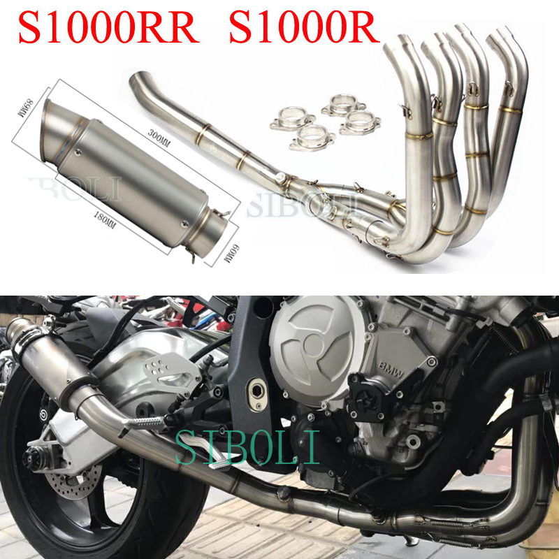 For <font><b>BMW</b></font> S1000RR 2010 11 12 13 14 15 16 17 <font><b>2018</b></font> Years Motorcycle Exhaust Full System With Muffler For <font><b>S1000R</b></font> 2015 2016 2017 <font><b>2018</b></font> image