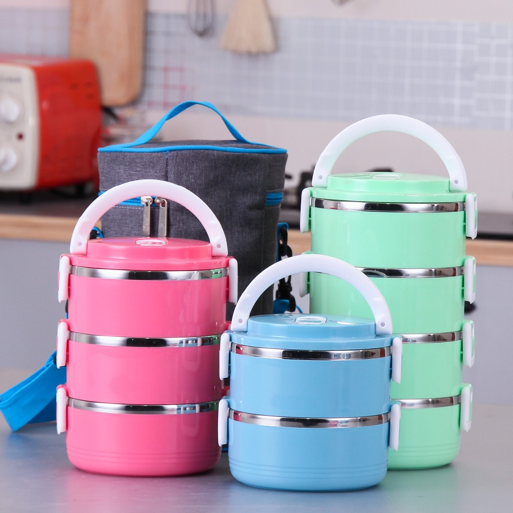 buy stainless steel bento for kids thermal food container food portable. Black Bedroom Furniture Sets. Home Design Ideas