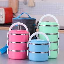 Stainless Steel Bento for Kids Thermal Food Container Food Portable Japanese Insulated Lunch Food box Dinnerware