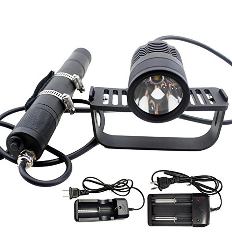 Scuba Diving Canister Light Dive Head Lamp Flashlight Waterproof 492ft 1000lm Cree Xml2 U2 Professional Underwater
