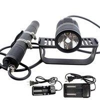 Scuba Diving Canister Light Dive Head Lamp Flashlight Waterproof 492ft 1000lm Cree Xml2 U2 Professional Underwater Lamp