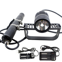 Scuba Diving Canister Light Dive Head Lamp Flashlight Waterproof 492ft 1000lm Cree Xml2 U2 Professional Underwater Lamp