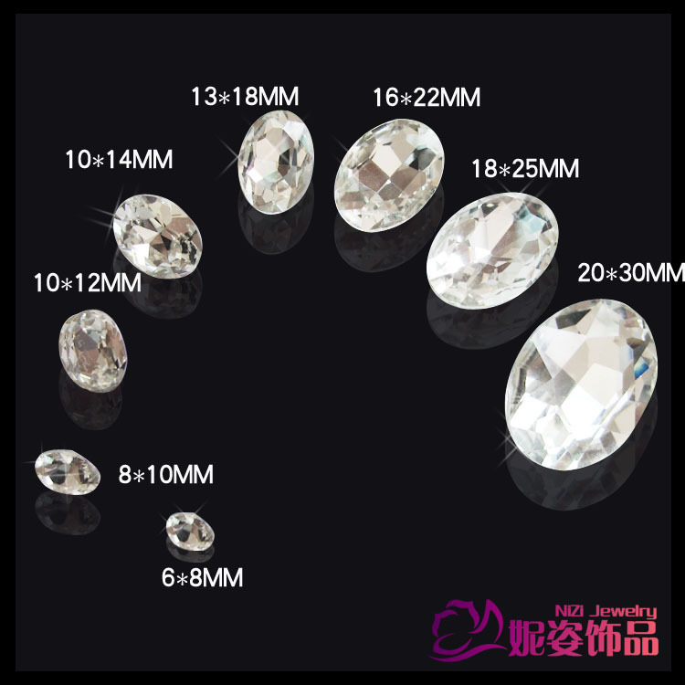 4x6mm -21x29mm Crystal Color Oval Shape Stones Silver Foiled Many Sizes Or Mixed Sizes Glass Beads DIY Crafts Embellishments 6 30mm 1122 rivoli crystal silver shade stones pointed back glass beads great for crafts nail art shoes dresses diy decoration
