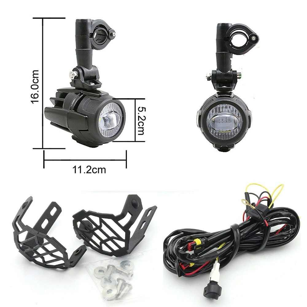 led auxiliary headlight mounting kit for bmw headlights gs 1200 1250 f800gs r1100gs f700gs black  [ 1000 x 1000 Pixel ]