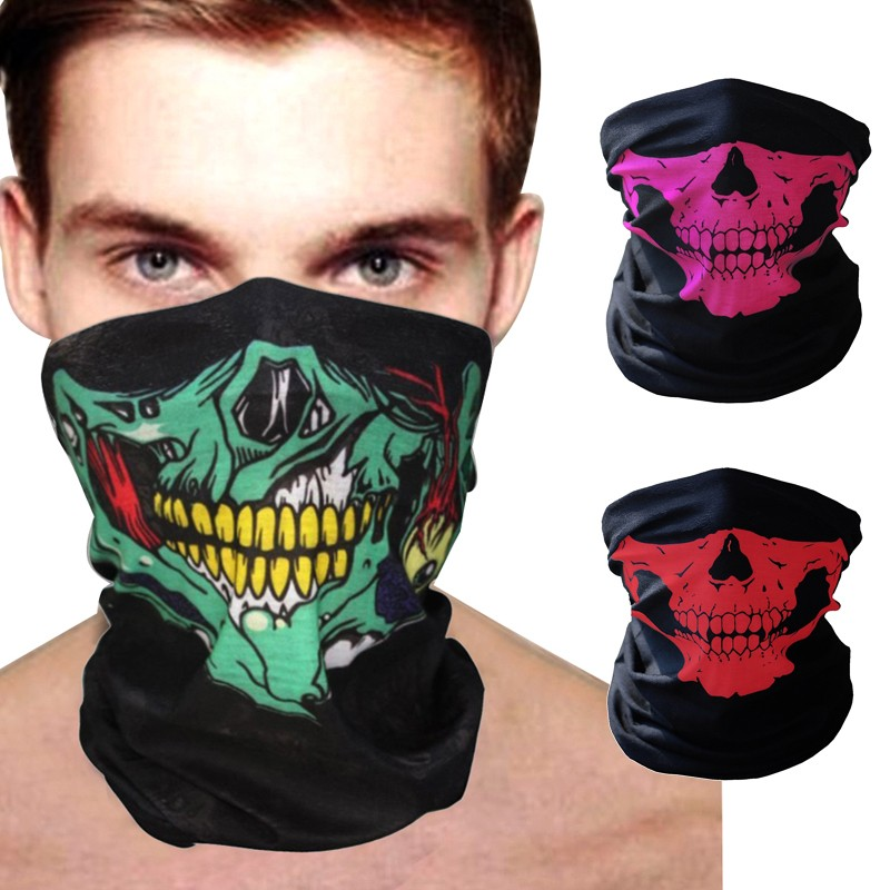 Men's Scarf Sets Apparel Accessories Practical New Fashion Balaclava Beanies Motorcycle Ghost Skull Face Mask Funny Sports Warm Ski Caps Bicyle Bike Beanie Scarf Sally Face