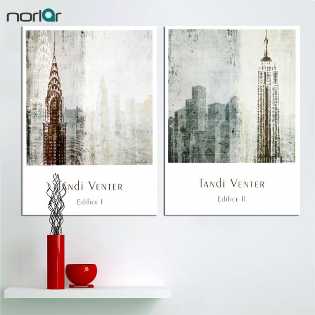 CITY Canvas Painting Venter Edifice NYC Empire State Building ...