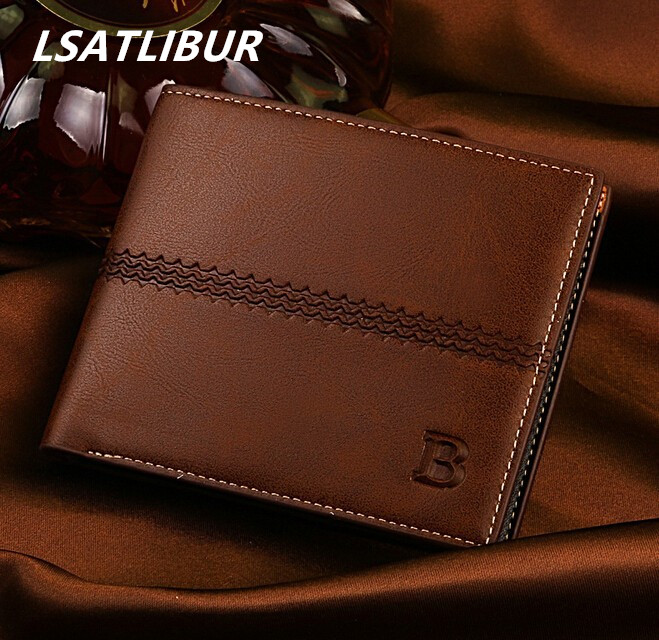 Фото 2015 new Short paragraph men wallets explosion models genuine leather casual men business wallet card personality dh200