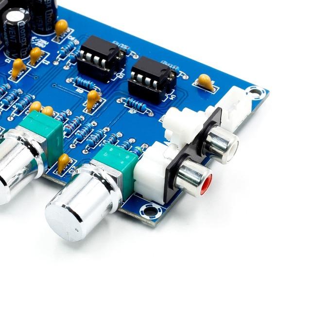 NE5532 Preamp Pre Amplifier Audio Adjustment Plate Double AC12V HIFI Amplifier Preamplifier Volume Tone Control Board