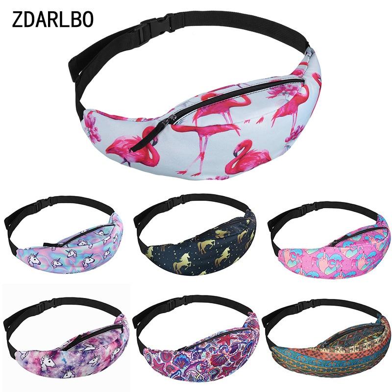 Flamingo Women's Waist Bag Banana Belt Bags Female Fashion Fanny Pack Shoulder Messenger Chest Bag Running Outdoors Hip Pouch