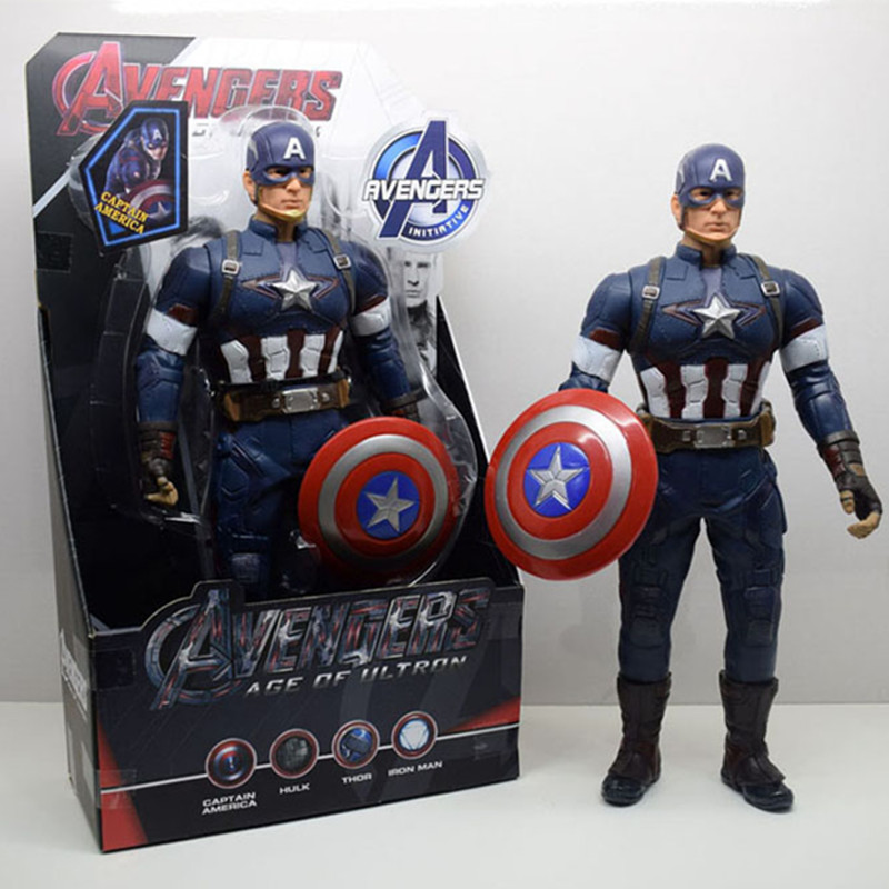 New! 1pc 13inch The Avengers Action Toys Super Hero America Captain Action Figures Collectible Model Gift Toy For Boys L432