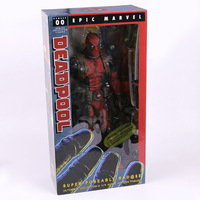 NECA EPIC MARVEL Deadpool Ultimate Collectible 1/4 Scale Action Figure Model Toy 16 45cm EMS Free Shipping