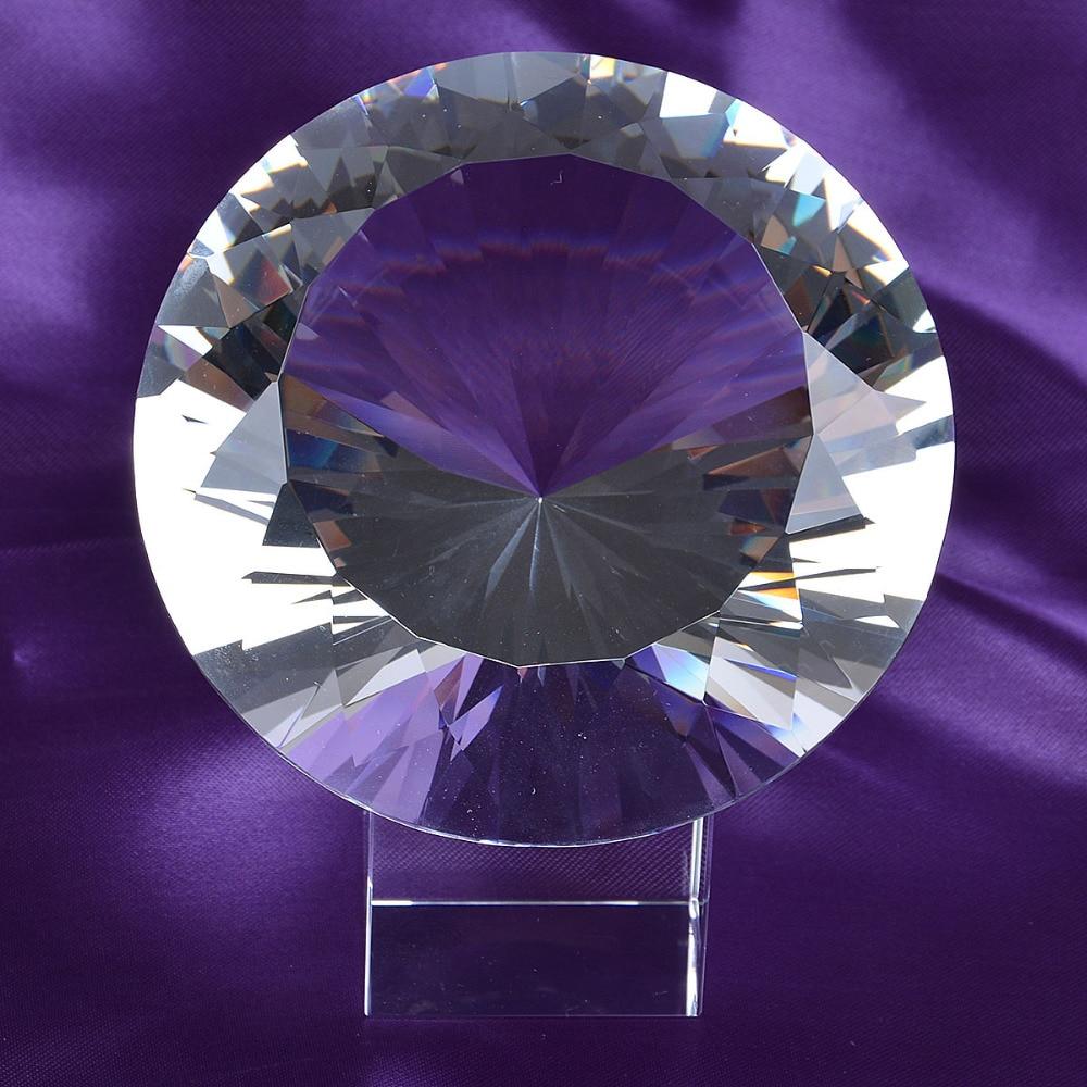 Skickas från USA Clear K9 120mm Crystal Diamond Paper Paperweight - Heminredning - Foto 2
