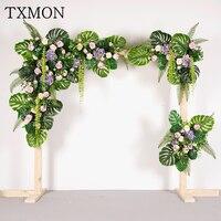 Пользовательские Sen Свадебные украшения реквизит моделирования поддельные цветок зеленый завод фон цветок свадебные дорога, ведущая арка