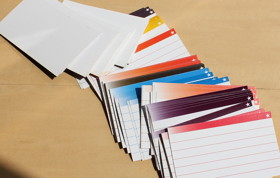 100 Sheets/Box File Tab Card Document Catalog Assorted Color Note Pad Index Card 50*85mm thought catalog souls