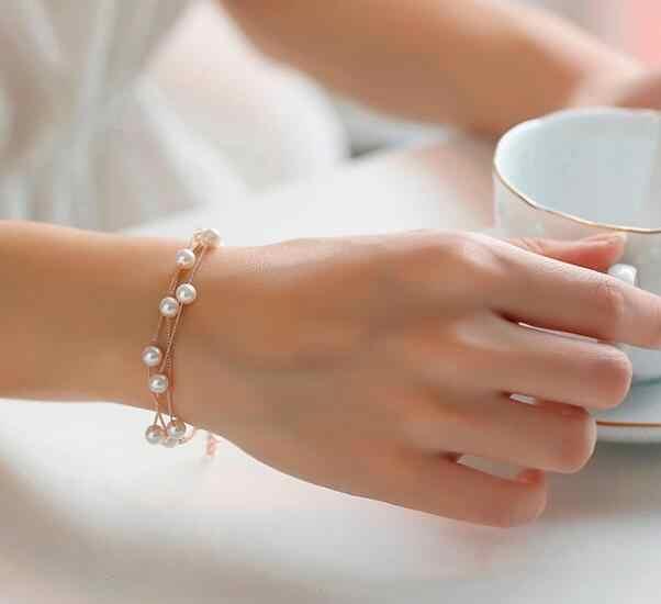 เลียนแบบไข่มุกชุดเครื่องประดับไข่มุกคู่ชั้นหญิงสร้อยคอสร้อยข้อมือชุดสำหรับงานแต่งงาน N271