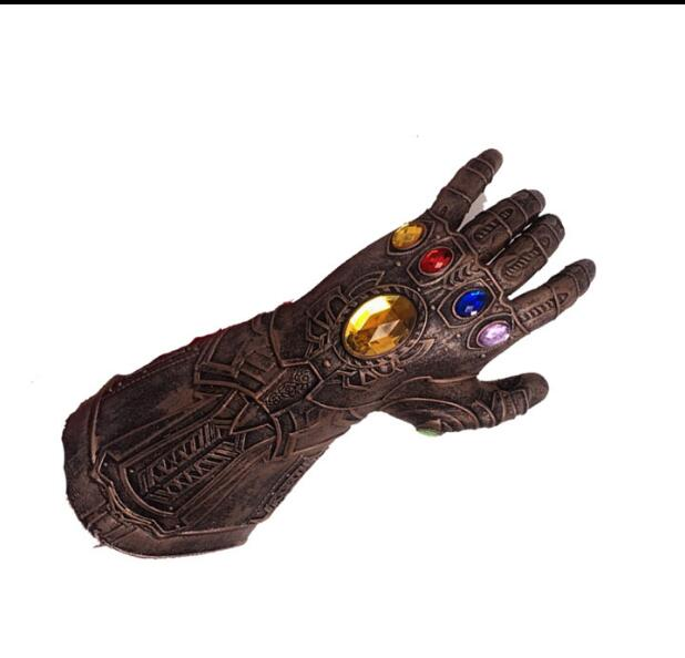 1 pc The Avengers Thanos Infinity Gauntlet Cosplay Gloves Prop Halloween Hard Latex Avengers: Infinity War Mask