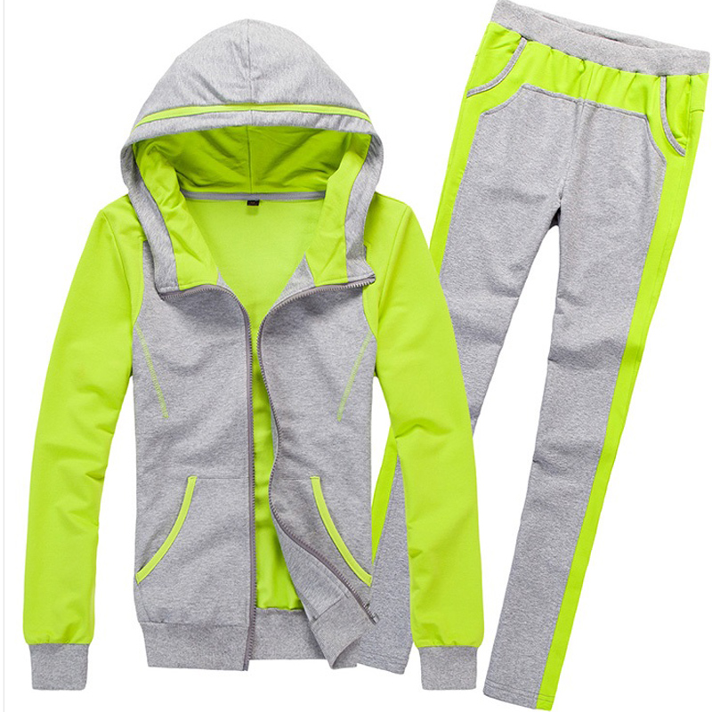 2018 Autumn Winter Tracksuit Women Casual Slim Pant Suits 2 Piece Set Women Hooded sweater And Trouser Pants Track Suit 34