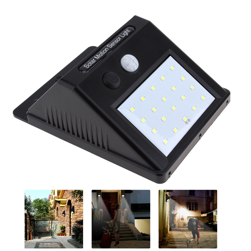 20 LED Solar Light Solar Power PIR Motion Sensor Wall Light Waterproof Outdoor Solar Lam ...