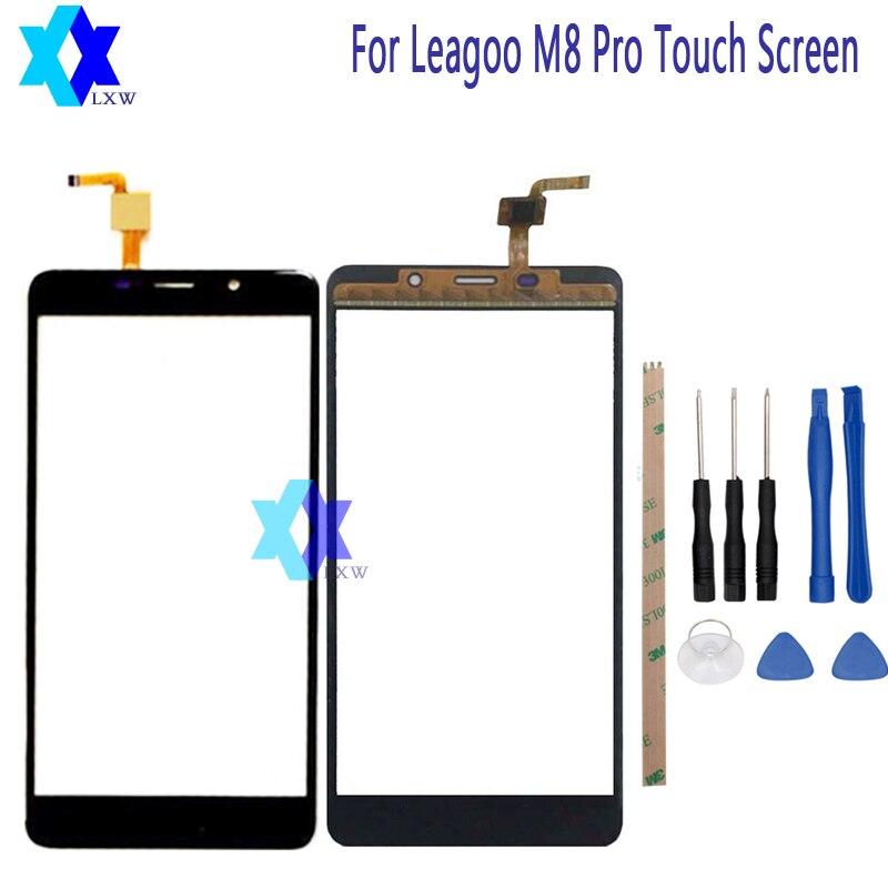 Für Leagoo M8 Pro Touchscreen Glas Ursprüngliche Garantie Original Neue Glasscheibe Touchscreen 5,7 zoll Werkzeuge + Adhesive lager