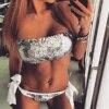 2017 Women Sexy Vintage Beach Sequins Bikini Swimwear Swimsuits Push Up Bathing Suit Bikinis Set Maillot