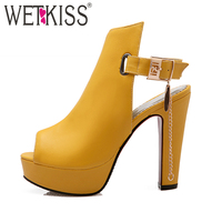 2017 New Arrival Fashion Thick High Heels Sandal For Women Sexy Open Toe Summer Dress Shoes