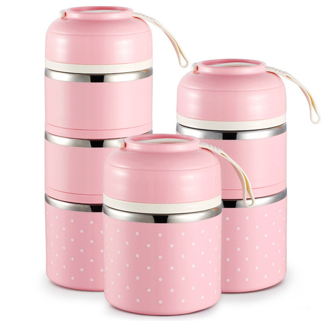 Japanese Thermal Lunch Thermos Cup Box Leak-Proof Stainless Steel Bento Box Kids Portable Picnic School Food Container Kitchen