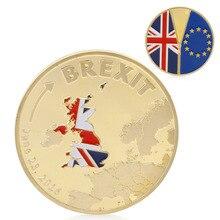 Монеты Brexit памятная монета покрытая золотом сливери коллекция монет физический подарок