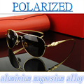 2016 Magnesium aluminum alloy high-grade The inner coating men women  polarized  sun glasses UV400 polarized sunglasses driving