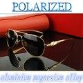2016 de Magnesio Y aluminio de aleación de alto grado El interior recubrimiento mujeres de los hombres polarizados gafas de sol UV400 gafas de sol polarizadas de conducción