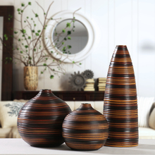 modern resin creative Retro flowers vase pot vintage statue home decor living room crafts decoration office figurine