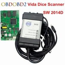 Best Vida Dice Pro 2014D Cavo Diagnostico Scanner Per Volvo Vida Dadi Software 2014D OBD 2 OBD II Interfaccia Completa chip di PCB