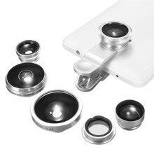 Универсальный 8 В 1 Мобильный Телефон Объектив Камеры Рыбий Глаз Широкий Угол Макро Len Клип Телефон Объектив Для iPhone 7 6 6 s Plus Для Samsung