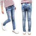 Delgado Jeans para Niñas Pantalones Niños de Dibujos Animados Pantalones Del Bebé Pantalones Flacos de Ropa Infantil Otoño Niños Pantalones de Mezclilla 2-12 disfraces