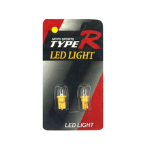 2Pcs  12V T10 LED 3000k 3d Yellow light Car Side direction indicator License plate Door Map Lamp Bulbs DC